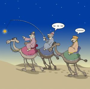CANX24 – Funny Xmas Card Three Wise Men